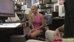 Desperate Sadie Leigh fucks huge cock in the office
