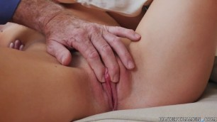 Sweet Girl Molly Mae young girl pleases the desire of mature men