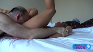 Delightful Blonde candy love to sit on a big dick
