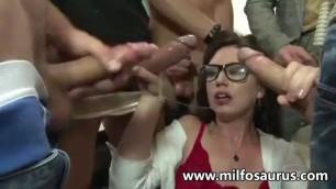 Raunchy MILF Sarah Shevon professor fucks her students