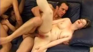 Two girls fuck with men Crazy amateur porn clip
