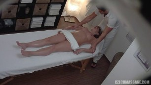 Czech girl with a buttered body fucks with a massage therapist 256