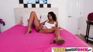 Ebony teen Nia Nacci hot interracial fuck with Bambino