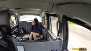Horny hot teen Julia De Lucia fucks on the taxis hood
