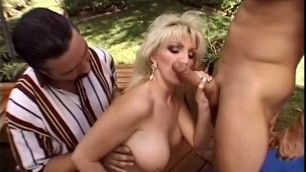 Ashley Anne MILF amazing blonde outdoors getting fucked by the pool
