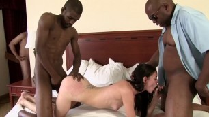 Amazing young girl with a small breast fucks with men