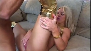 Fabulous Blonde Girl Bridgette Kerkove in hottest facial