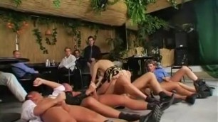 Fabulous Blonde Woman in exotic pissing gangbang sex scene