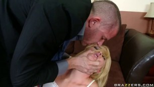 Krissy Lynn Cathartic Coitus Blonde brutally fucked in the mouth
