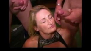 Girls get a lot of sperm on the face Cummy foreskins compilation 77
