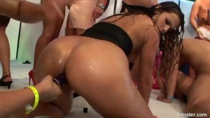 drunk sex orgy with tiny boobs and giant tits whores