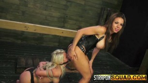 Marsha May And Kylie Rogue Girls with strapons are fucking each other hard