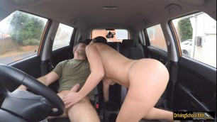Jasmine Jae fucks her driving student