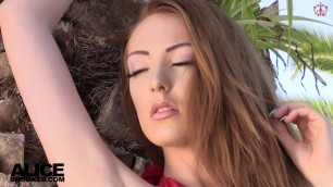 Alice Brookes reveals his plump breasts Outdoor Nudity htm