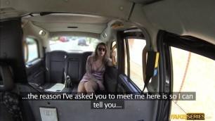 Milf Ava Austen teases the taxi driver
