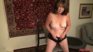 Jade mature woman reveals her body and puts her fingers in pussy