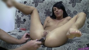 Petra brunette bared her body and fucked in all holes