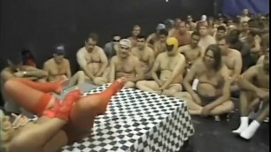 Depraved Woman Cala Craves caresses her pussy and gets a lot of sperm on her face