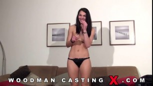 303 Szindy Black Romanian Naked girl licking pussy at the casting