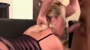 Amazing Blonde Melissa Black in hottest blowjob adult movie