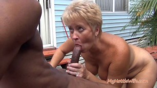 Mature Blonde Tracy Licks gets Caught by Naughty Neighbor