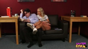 Carla Cox girl pleases the prick with her hands and mouth Library Grope