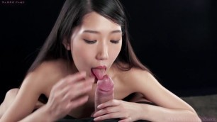Rio Kamimoto Pretty Japanese Sucks Big excited cock Blowjob