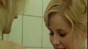 Fabulous amateur Lesbian Blonde Girls in bed porn scene