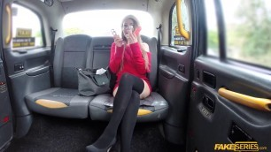 Petite blonde Anderson masturbates and gets fucked in the cab