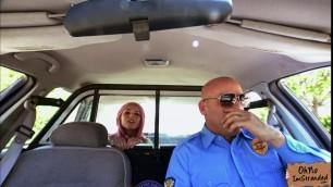 Slutty blonde babe Aidra Fox gets banged on camera for a ride