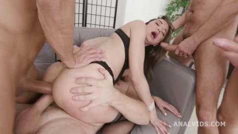 Triple Anal Masters Francys Belle On Balls Deep Anal Almost Buttrose Gio Tiny Pussy Masterbating