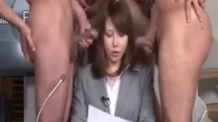 leading japanese girl with natural tits and hairy pussy fucked at work