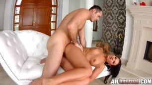 gloryhole with super booty gets a wet pussy creampie