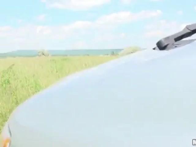 Car hot sex with sunny euro baby hooker Katy Rose new porn