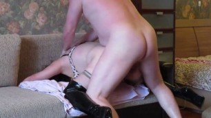 amateur titted wife getting fucked and lingerie sucking husband cock